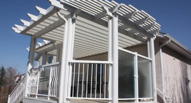 Pergola Hybrid Patio Cover Calgary