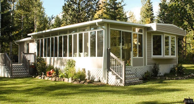 Park Model Trailer Sunroom