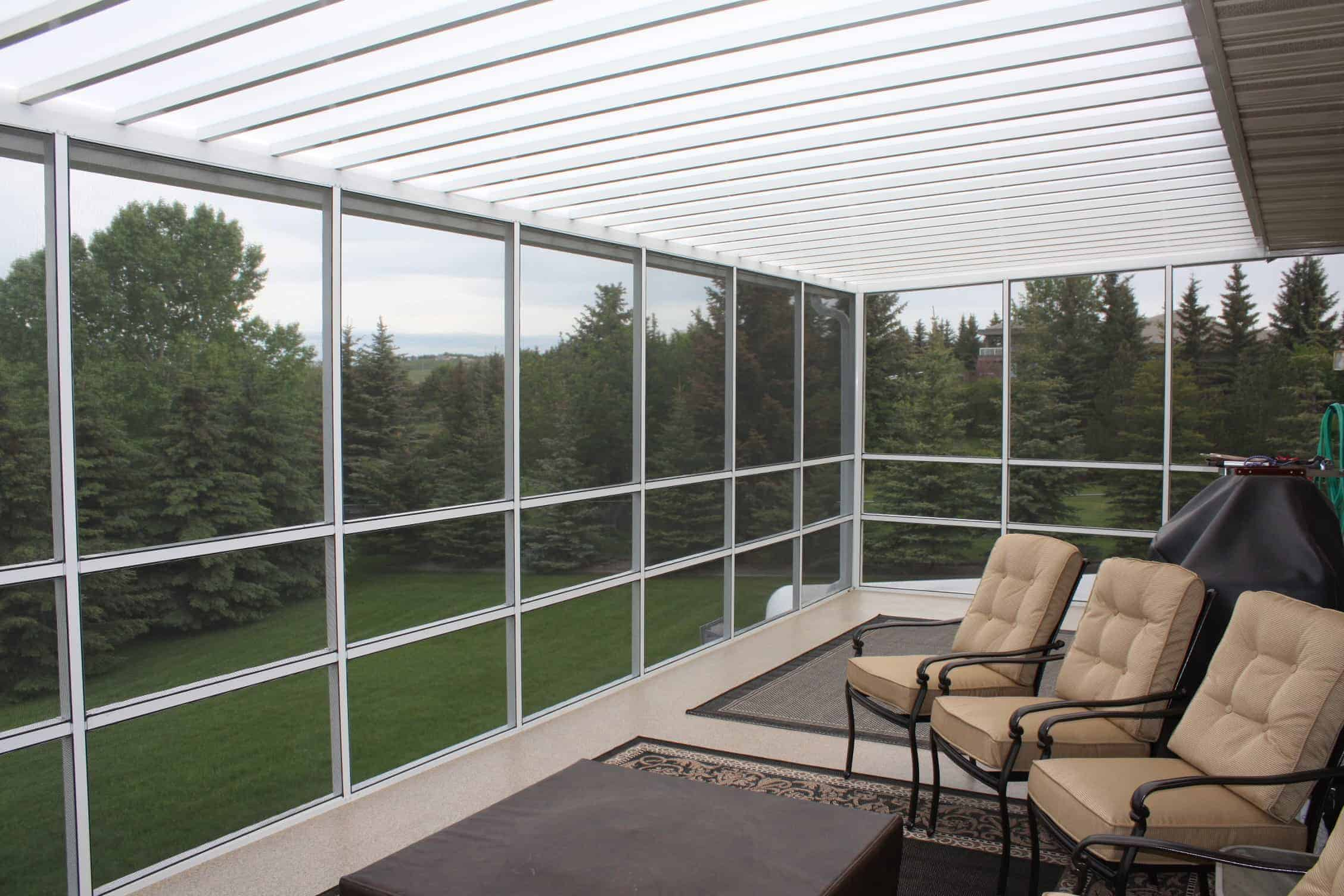 Calgary Indoor View Screen Room with Lexan Roof